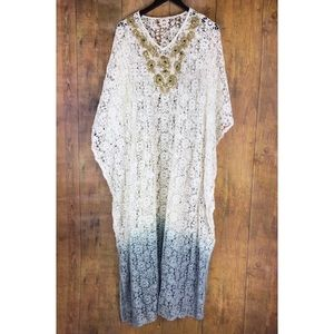 Soft Surroundings Jarana Caftan Crochet Maxi Dress